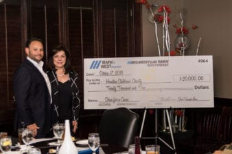 BMW Donates 20000 to HCC  Houston Childrens Charity