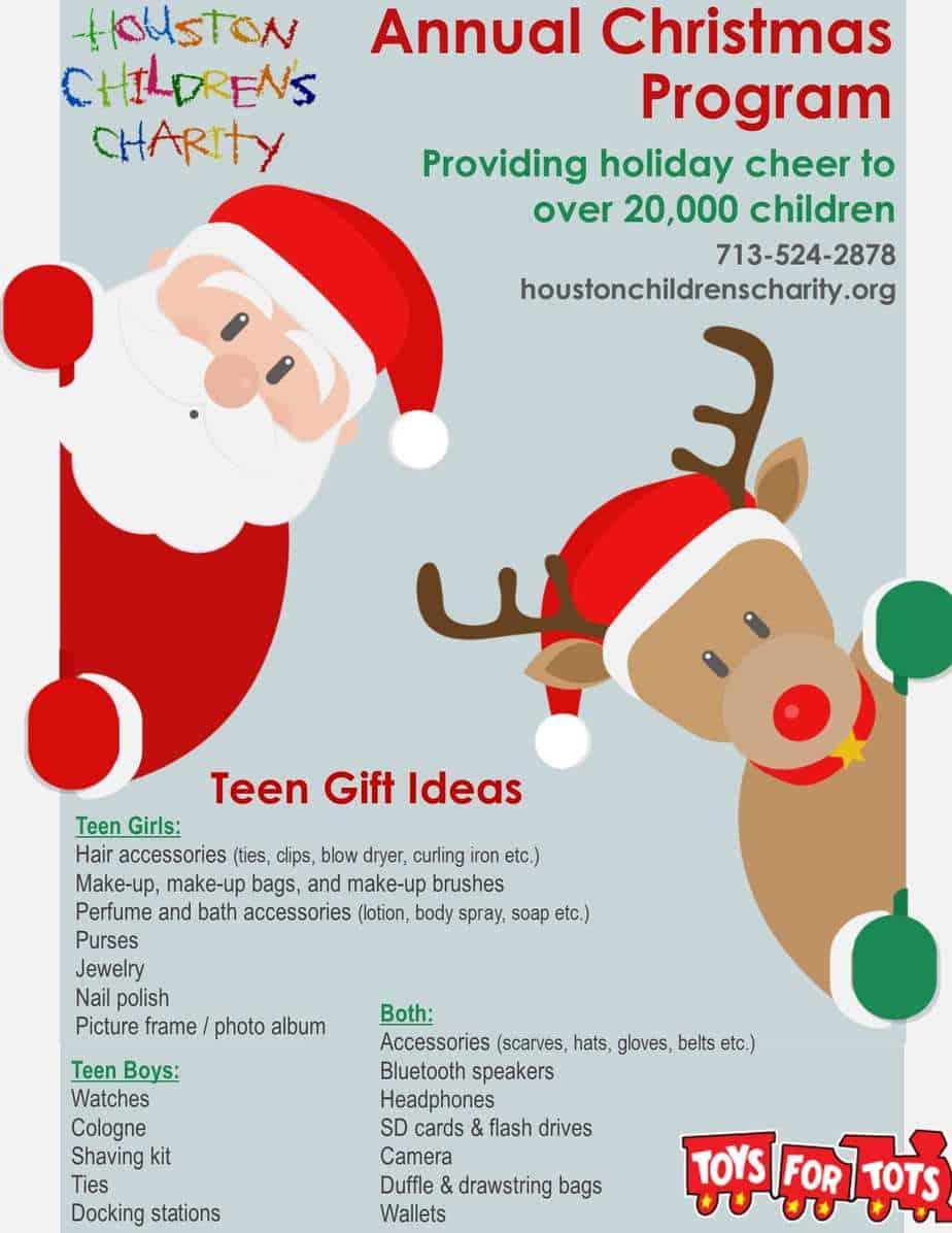 Christmas Flyer - Teen Final 2 - Houston Children\'s Charity