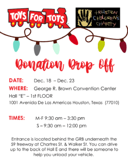 Toys For Tots Donation Drop Off Houston Children S Charity
