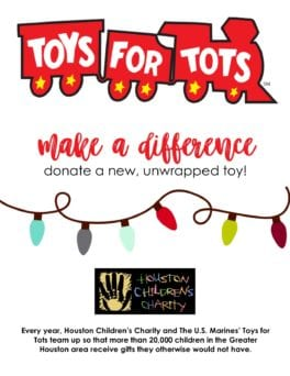 Hcc Teams Up With Toys For Tots For 10th Year Houston Children S